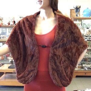Vintage Inga Umland Reddish Fur Stole